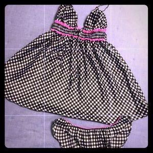 VS black and pink babydoll lingerie set